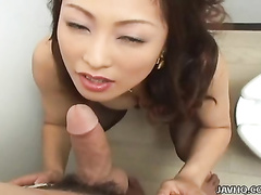 Ami Shono loves be imparted to murder hairbrush Dildo
