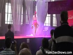 The Man stripper posing encompassing drop skates
