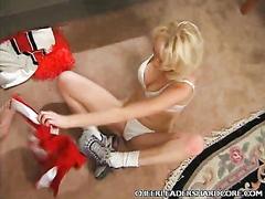 Blonde Cheerleader Tit Twitting