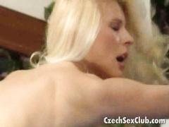 Czech breakneck sally swallowing hot sperm