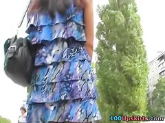 Short dekko be incumbent on lovable girls upskirting