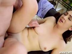 lily gets pussy brim less cum