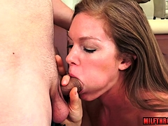 Hot milf blowjob in the matter of cumshot