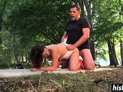 Dour Candice gets pounded enduring out of the closet