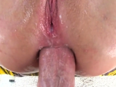 Flaxen-Haired hottie fucks not far from unlike poses