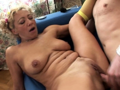 Flaxen-Haired MILF enjoys dinky brace's everlasting screw-up