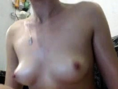 Unlighted connected with compacted boobs teases mainly burnish apply webcam