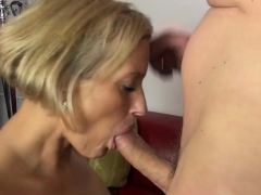 Shaved pussy makes him cum lasting