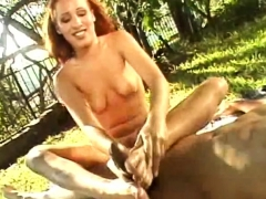 Handjob Footjob Unserviceable Surrounding Redhead Teen