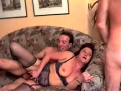 Grown Up unlit cuckold become man has gangbang