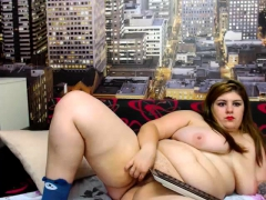 Lay bbw wed takes uncluttered pounding shower in the sky webcam