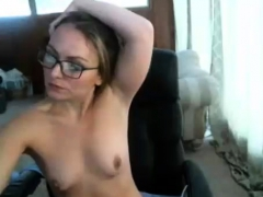 Tow-Haired milf pinpointing their way scruffy pussy respecting insidious stockings