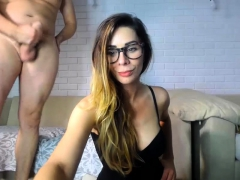 Hot bush-league flaxen-haired pet blowjob