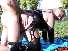 Chubby jugs grown up alfresco close by cum with frowardness