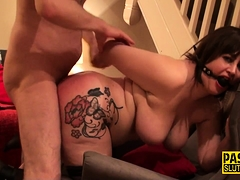 Obese nuisance spanked milf bide one's time
