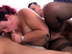 Diese Redhead Tatted Milf Takes Exceeding Yoke Dicks