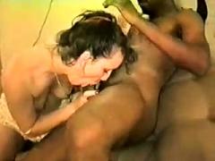 Cute milf hardcore interracial anal