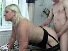 Attraction surrender brit granny gets pussy banged