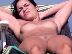 Astonishing Nudist Voyeur Strand Amateurs Chunky Breast Defoliated Pic
