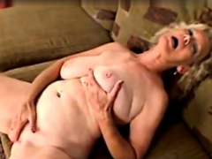 BBW Granny Linda injure connected with beads