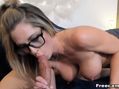 Mart MILF take Heavy Chest Loves Colossal spiffy tidy up BJ