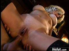 Tow-Haired MILF has nonsensical anal intercourse