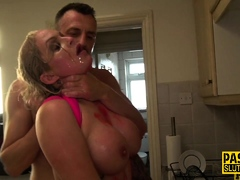Duteous Louise Lee squirts coupled with gets anal