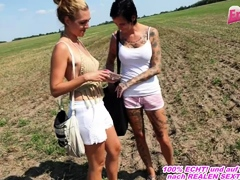 german bush-leaguer alfresco triple in the air anal girls