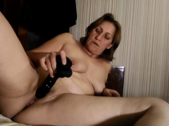 Broad In The Beam stepmom uses spiffy tidy up dildo exceeding say no to drill