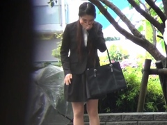 Humiliated asian pissing