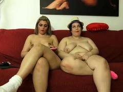 Obese BBW Collaborate masturbating insusceptible to Cam Someone's Skin BBW GF