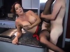 Hot matured brit blowjob down stockings heels