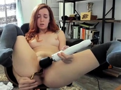 Unassisted pervert apropos red-hot dildo
